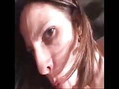 wife deepthroat it Deep and spunk  in Mouth
