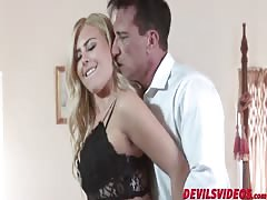Hot blonde Summer Day likes sucking big hard cock