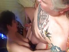 Mature sucks cock and fuckks in nude pantyhose
