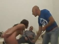 Sizzling whore gets her ass flogged and drilled by a meaty dick