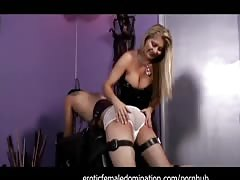 Obedient slave experiences the full force of mistress Nicolette's anger