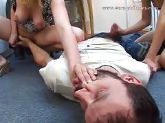 Russian forcing femdom hardcore