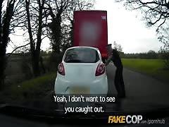 Fake Cop Unfaithful girlfriend feels the force