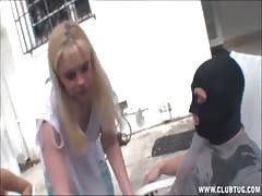 Blonde Mother And Daughter Force Guy To Burst