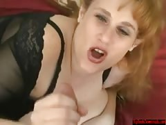Between her huge tits & in her mouth
