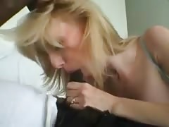 Amateur blonde wife fucking bbc on couch