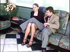 Sexy Russian Milf Fucked In The Waiting Room !