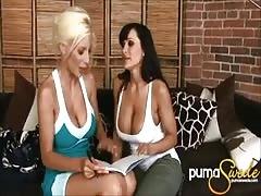 Big Titted Puma Swede & Lisa Ann's First Time!