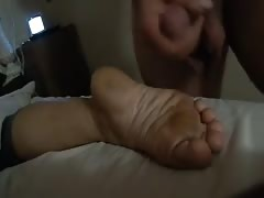 another foot cum.  size 5 feet