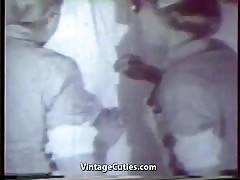 Sexy Nurses Healing Sick Patient with Sex (1950s Vintage)