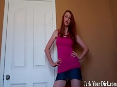 Caught jerking in your step sisters room JOI