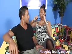 Latina step-mom takes care of new son