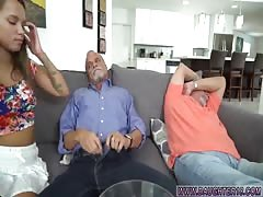 Mom and daughter swap and mother friend's step daughter threesome and