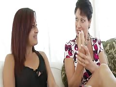 Teens Step-Mom Teaches Her to Suck Cock