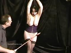 Mature slavegirls pussy needle torture and extreme cattle prod electro shoc