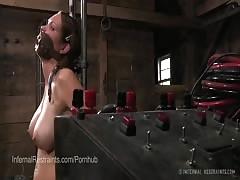 Rain DeGrey Gets Electric Torture in Bondage
