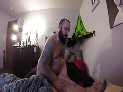NASTY LITTLE SKINNY SLUT CANT HANDLE IT continued and cum shot