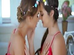 Lily Adams and Uma Jolie Teen Lesbian Sensuality