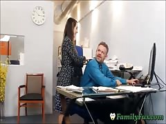 Daughter Bambi Brooks Slutty Secretary Experience With Stepfather