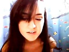 Cute Latina Teen masturbates in Bathroom