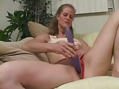 Nerd Katie Catches Older Dawndi Dildoing And Helps