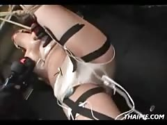 Asian Ball Gagged And Nipple Clamped Group