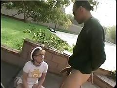 Nerd Teen Erika Gets A Rough Buttfucking