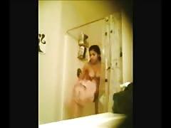 Cute Teen Girl Being Spied On In Bathroom