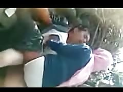 indonesian - hijab girl having outdoor sex