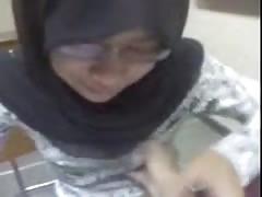 malaysian hijab girl boob press