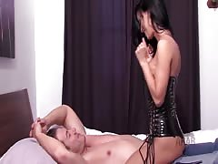 Mistress cuckold Arab Slave foot worship boot threesome