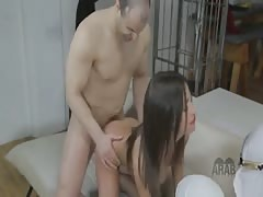 Arab mistress makes her arab slaves into worship and cuckold