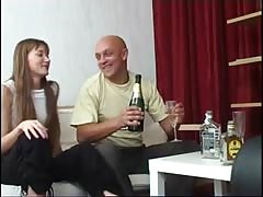 Russian bitch with dad