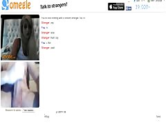 Omegle girl gets tricked, she likes it big