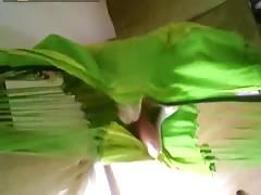 CODEFUCK sexy solo in green hammock masturbate in stockings fingering pussy