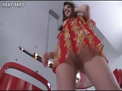 TEEN MASTURBATES AND CUMS ON TABLE