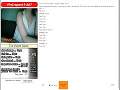 Hot omegle girl completes points game and cums.