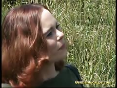 pickup busty german redhead