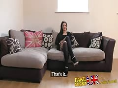 FakeAgentUK Hot slim Brit girl fetish bound and fucked for agents pleasure