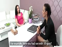 FemaleAgent. Unbelievably hot casting with a naughty minx