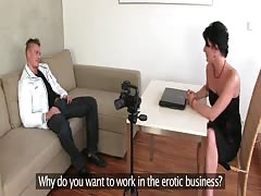FemaleAgent MILF can't get enough of sexy strippers cock during casting
