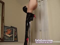 Lelu Love-Squeaky Leather Boots Poledancing