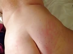 Spanking one of my bbw's