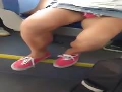 Bus Slut With Pink Panties