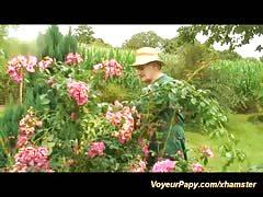garden orgy with voyeur papy