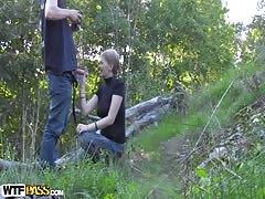 Evelina Juliet in amateur video of teens fucked hard filmed in forest