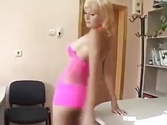 Skinny Blonde Upskirt Nice Ass