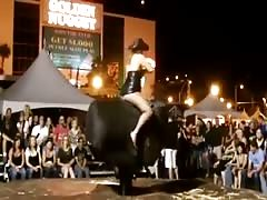 Sexiest funny thong on mechanical bull