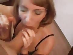 Blonde Smoking MILF Blowjob