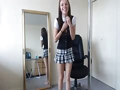 Schoolgirl strip